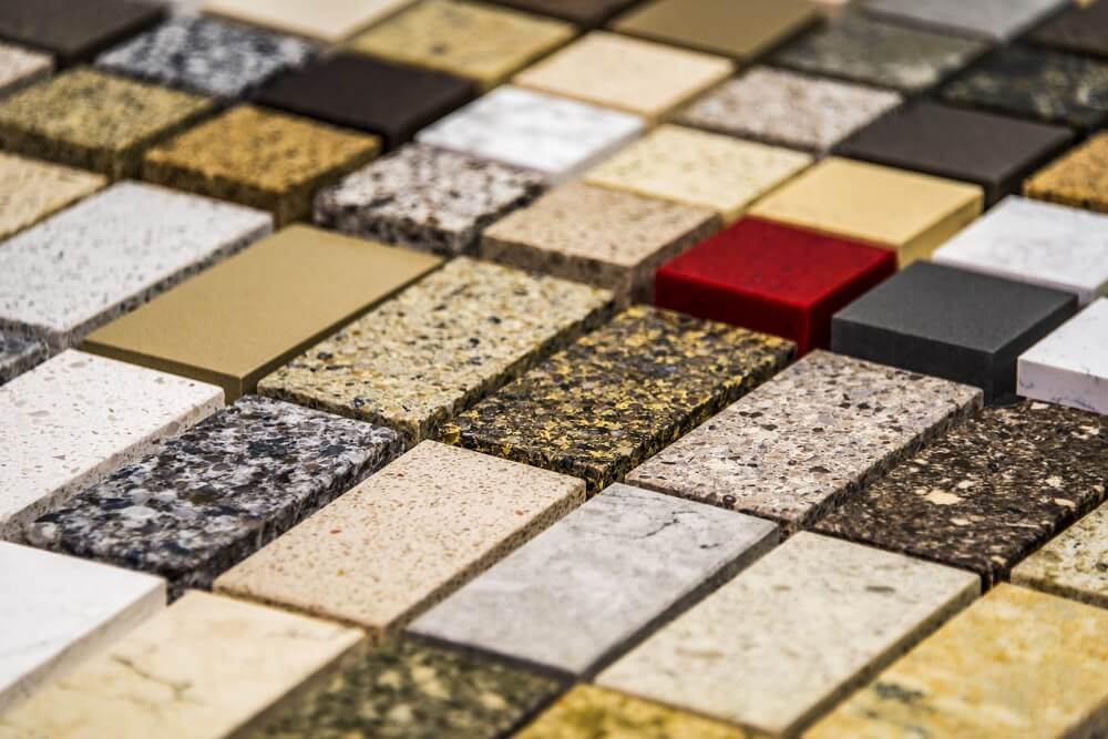 próbki granitu na blat kuchenny
