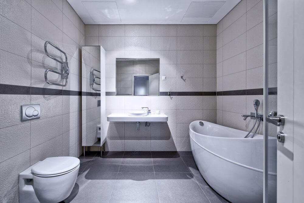 łazienka do blatu z kamienia